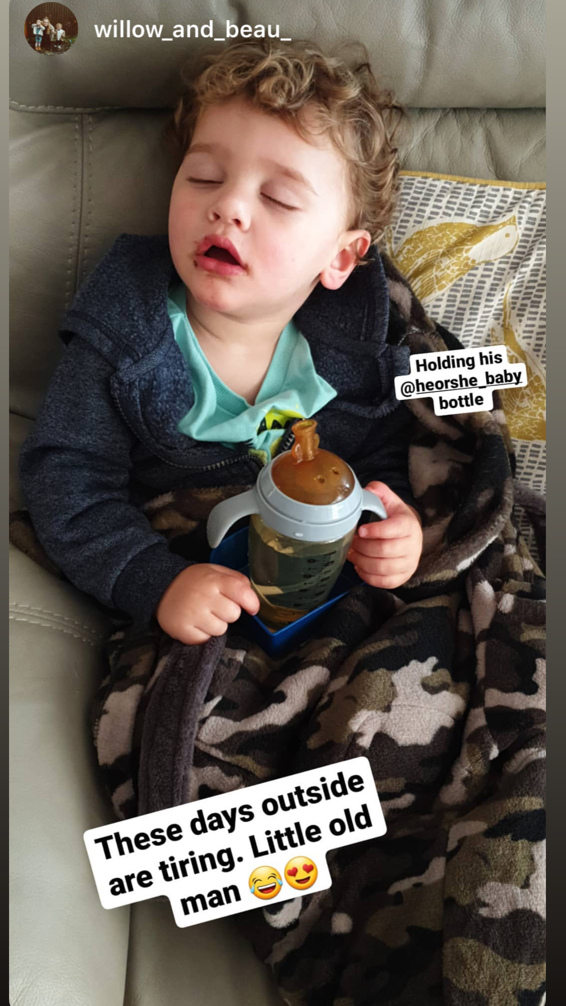 Even if I fall asleep, I want to hold my #heorshe sippy cup. .